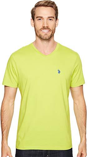 U.S. Polo Assn. Men's V-Neck T-Shirt, Café Lime, M]()