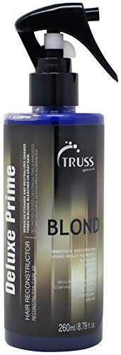TRUSS Deluxe Prime Champagne Blond Hair Treatment - Color Refresh Treatment & Heat Protectant Spray For Grey Hair, Highlights, Ash Blonde Colors - Detangler, Repairs Dry, Damaged, Color Treated Hair (Best Heat Protectant For Blonde Hair)