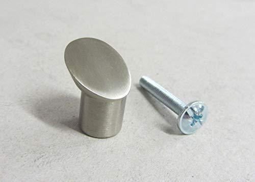 Pomello pomolo x mobili armadi cassetti misura ø 11mm in metallo nichel satinato Siro