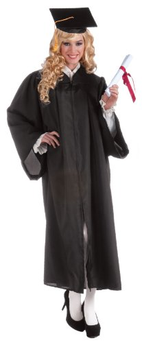 Forum Novelties Women's Costume Graduation Robe, Black, One Size (School Teacher Costume)