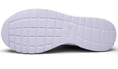 ECOTISH Unisex Fashion Camouflage Mesh Schuhe Casual Flat Sneaker Leichte Walking Athletic Schuh Breathable Laufschuhe (Tag Size 37 - UK Size 4, Grün Orange)