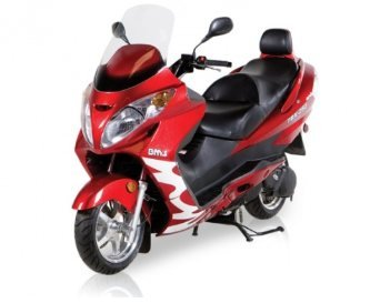 Fast Speed High Power BMS TBX EFI 260cc FUEL INJECTED! Touring Scooter (Blue, Burgundy, Silver, Orange, Black, White)