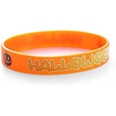 Komonee Halloween Trick Treat Orange Silicone Wristbands Pack 100 Estimated Price £44.99 -