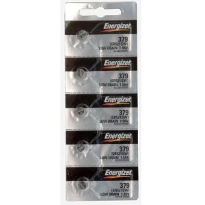 Energizer 379 Button Cell Silver Oxide Sr521sw Watch Battery (1 Pack of 5 ()