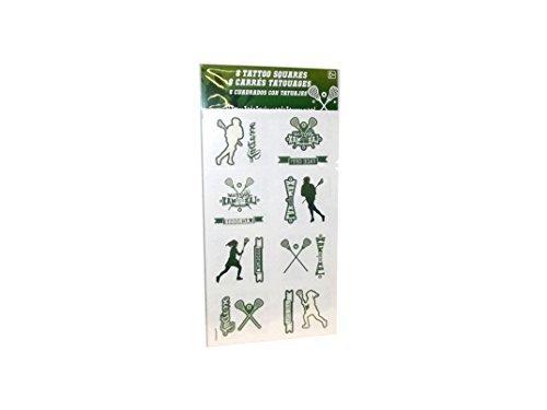 Sport Tattoo Squares (Green - Lacrosse) -