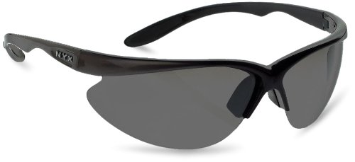 NYX Classic Competition Sleek Style Traditional 3-Lens Set Sunglasses (Gray Lens/Black Gloss - Sunglass Nyx