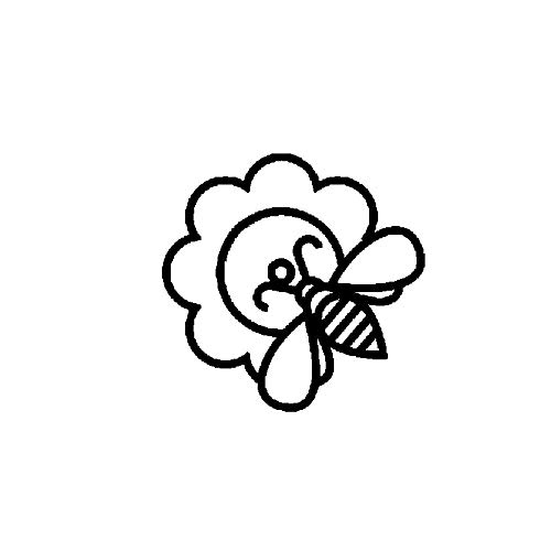 SHMAZ 14.5 Cm * 14.2 Cm Interessante Mooie Honingbij Artistieke Sticker Auto Sticker Zwart/Zilver