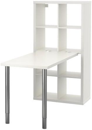 Ikea Kallax – combinación de Escritorio, Blanco – 77 x 147 cm ...