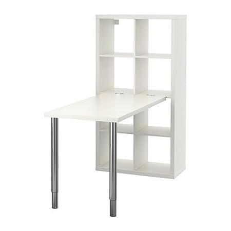 Ikea Kallax - combinación de Escritorio, Blanco - 77 x 147 cm ...