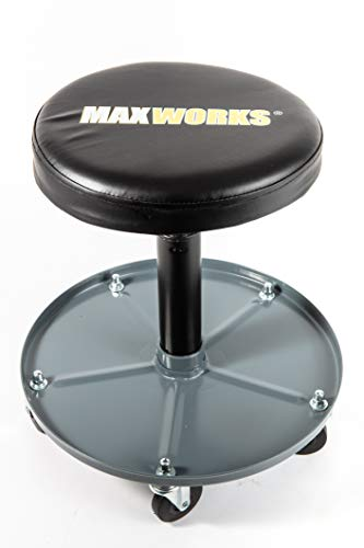 (MaxWorks 80771 80771-350 lb. Capacity Pneumatic Roller Seat/Creeper with Adjustable)