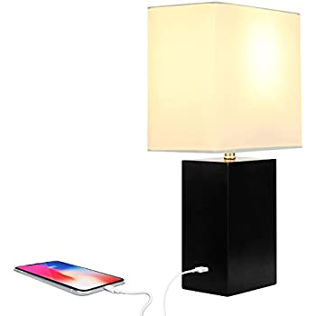 Brightech Grace LED USB Bedside Table & Desk Lamp - Modern Lamp ...