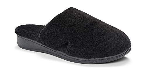 Vionic Women's Indulge Gemma Slipper - Ladies Adjustable Slippers with Concealed Orthotic Support Black 5 Medium US