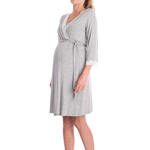Sunjing Pyjama Femmes Pyjamas Infirmiers Soins des Soins Pyjamas Robes l'allaitement Pyjamas Robes Robe Robe qqTUB