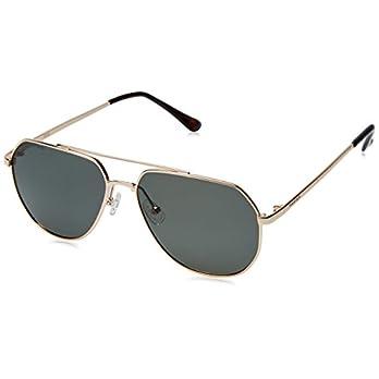 Fastrack Polarized Goggle Men's Sunglasses – (M186GR2P|58|Gold Color)