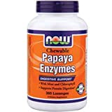 Papaya Enzyme Chewable, 360 Tabs by Now Foods (Pack of 4) Review