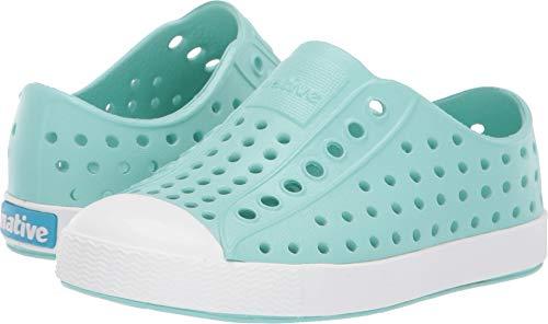 (Native Kids Shoes Baby Girl's Jefferson (Toddler/Little Kid) Hydrangea Blue/Shell White 8 M US Toddler)