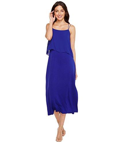 冊子暗記する四半期[ヴィンスカムート] Vince Camuto レディース Asymmetrical Woven Overlay Maxi Tank Dress ドレス Nile Blue XL [並行輸入品]