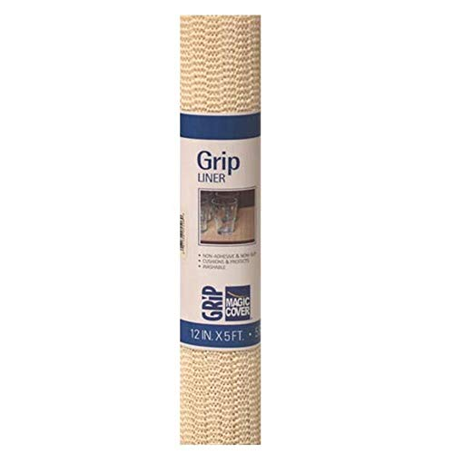 Magic Cover Grip Liner For Drawer, Shelf, Counter Tops and Surface Setting - Natural - ()