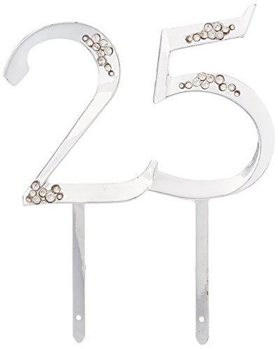 - Wilton Silver 25th Anniversary Pick