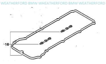 BMW Genuine Cylinder Head Valve Cover Gasket Set E39 E46 E53 Z3 525i 528i 530i 320i 323Ci 323i 325Ci 325i 325xi 328Ci 328i 330Ci 330i 330xi X5 3.0i Z3 2.5 Z3 2.5i Z3 2.8 Z3 3.0i Cylinder Head Valve Cover