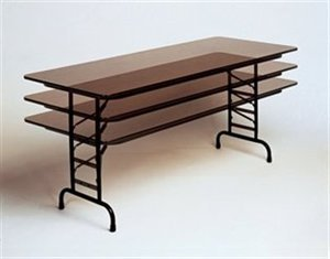 - Standard Adjustable Height Folding Table (24 in. x 72 in./Black Granite)