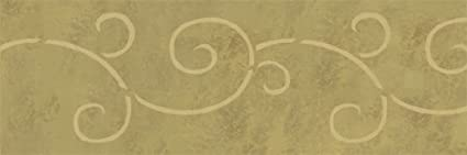 12 x 12 BROCADE MOTIF STENCIL AMERICANA DECOR LASER CUT ART-DECO CRAFT WALL