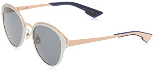 Christian Dior Sun/S Sunglasses Silver Matte Peach / Dark ()