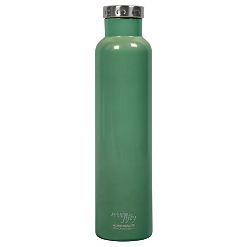 Fifty/Fifty Seven Fifty Double Wall Vacuum Insulated Wine Growler, 18/8 Stainless Steel, 750ml, Emerald ()