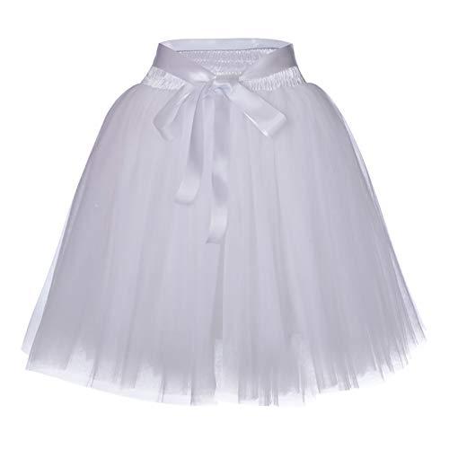 Femme Jupon Tulle Grande Taille Elastique Style Audrey Hepburn Elgant Jupette Taille Haute Amincissante Mariage Soire Crmonie Taille 65-105cm Longue Jupon 50CM Photo 1