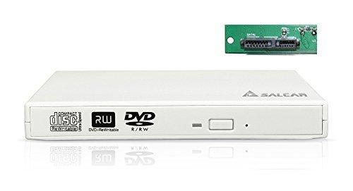 Extern Laufwerksgehäuse Slim-Line SATA USB 2.0 (Externer Super Drive Caddy Case) Plug & Play Gehäuse für 12,7mm CD DVD Brenner Laufwerk (Weiß)