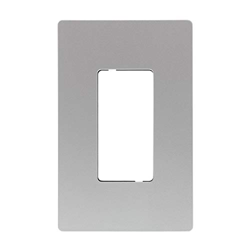 - Legrand - Pass & Seymour radiant RWP26NICC6 1-Gang Screwless Plastic Wall Plate, Decorative Outlet Cover, Brushed Nickel Finish