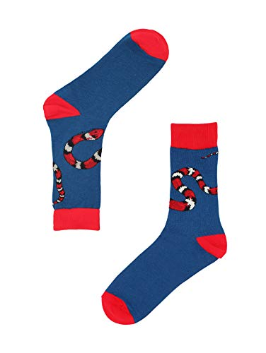 Real Sic Casual Designer Socks for Men and Women - Animal Pet Series - Breathable and Lightwear Cotton (Snake)