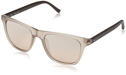 Police Men's Fine Wayfarer Sunglasses in Semi Matte Translucent Beige S1936 AAVX 53 Pink 53 by Police (Image #1)