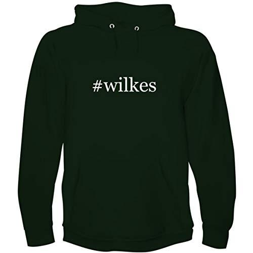 The Town Butler #Wilkes - Men's Hoodie Sweatshirt, Forest, Medium (Wilkes Apparel University)