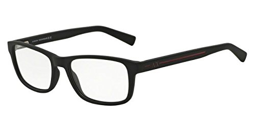 Armani Exchange AX3021 Eyeglass Frames 8078-54 - Matte Black ()