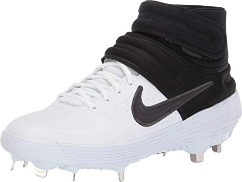 Nike Men's Alpha Huarache Elite 2 Mid White/Thunder Grey/Black 7.5 D US