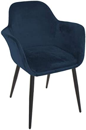Home Gadgets Sessel, Velours, Blau, 84 cm