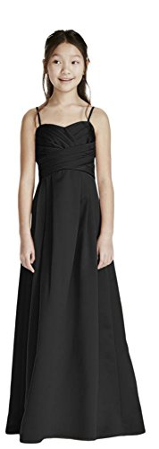 David's Bridal Satin Sweetheart Ball Gown with Pleated Bodice Style WJB0692, Black, 14 by David's Bridal