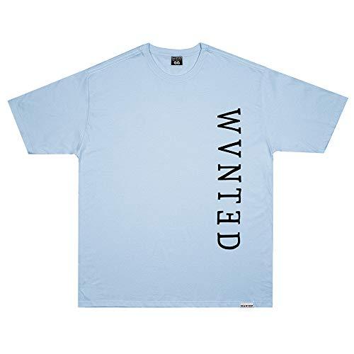 Camiseta Wanted - Logo Vertical azul Cor:Azul;Tamanho:G