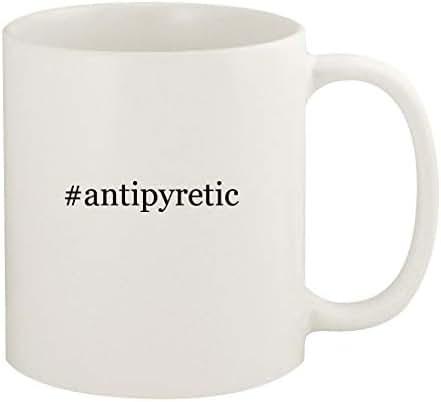 #antipyretic - 11oz Hashtag Ceramic White Coffee Mug Cup, White