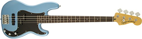 Squier by Fender Vintage Modified Precision Beginner Electric Bass Guitar - PJ - Lake Placid Blue