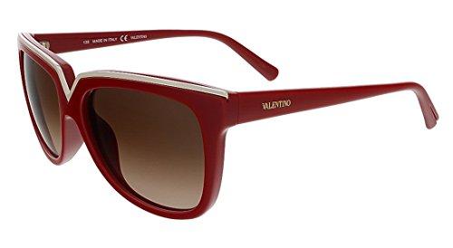 Valentino V638S 613 Red Wayfarer Valentino Sunglasses