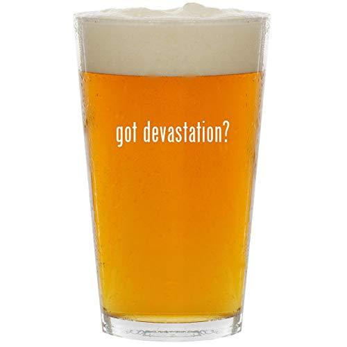 got devastation? - Glass 16oz Beer Pint