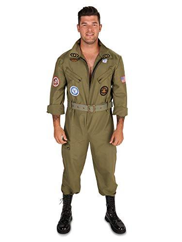 Dream Weavers Costumers - Military Fighter Pilot Jumpsuit Adult Plus Costume - Plus 1X