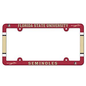 NCAA License Plate with Full Color Frame, Florida State Seminoles