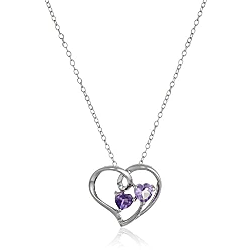 little dual aqua bigsis sis heart big mom gold birthstone set necklace cz