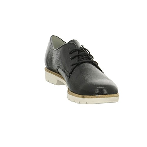 para Cordones de Tamaris Negro Sintético Mujer de Zapatos Xq6ET