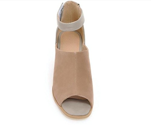 Heels Mujer 41 roman Brown Stickers magic Comfort 6cm daily 41 High 33 Xie Sandalias Brown 40 De Shopping RxO4AnwXE