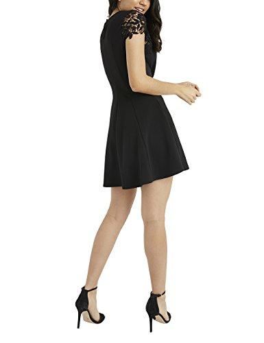 Lipsy Kleid Schwarz Spitzentop Damen Skater mit TrwqpT1O