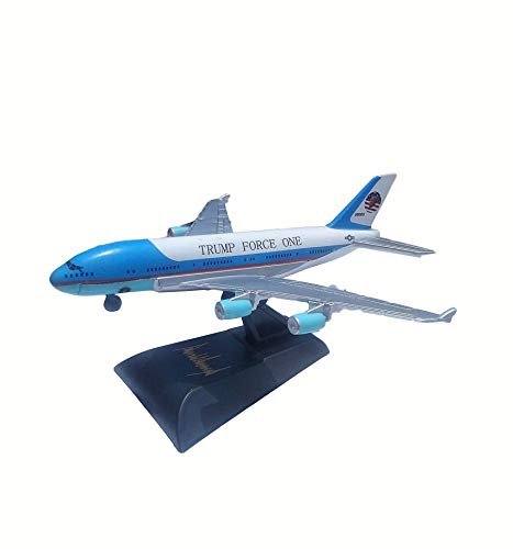 Trump Air Force One Airplane Collectible Model - US President Donald Trump Airplane with Signed Stand - Keep America Great Inscription - Original Funny Political Gag Gift Idea